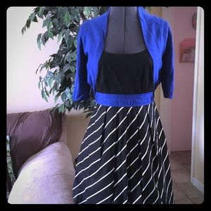 Black & Blue Classic Dress